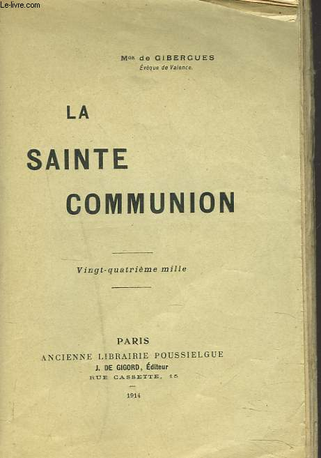 LA SAINTE COMMUNION.