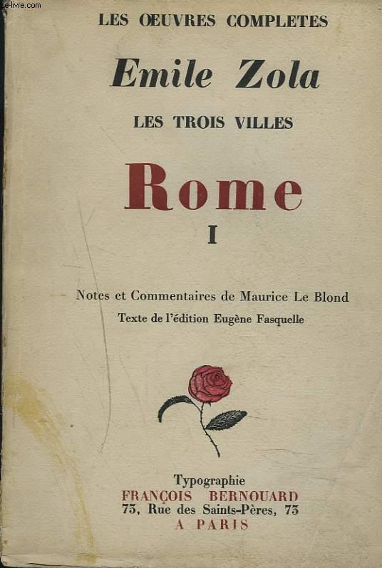 LES TROIS VILLES. I. ROME.