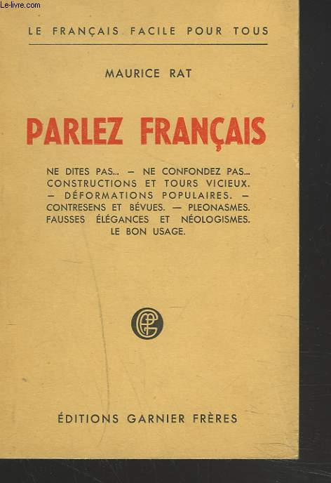 PARLEZ FRANCAIS.