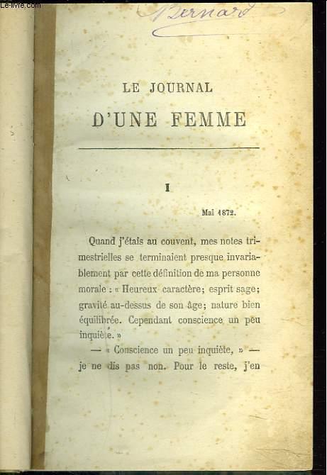 LE JOURNAL D'UNE FEMME