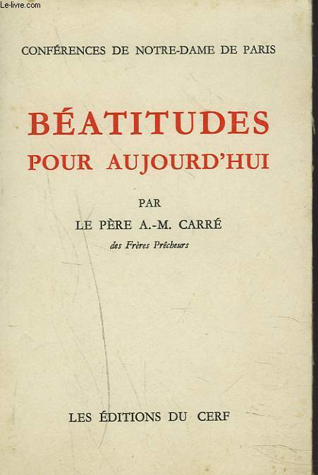 BEATITUDES POUR AUJOURD'HUI