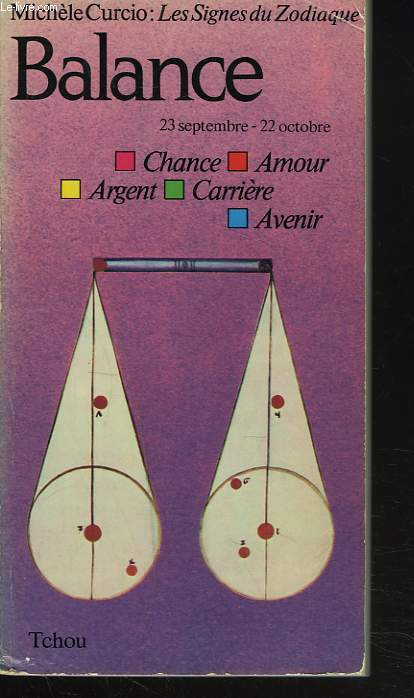 BALANCE. 23 SEPT-22 OCT. CHANCE, AMOUR, CARRIERE, AVENIR.
