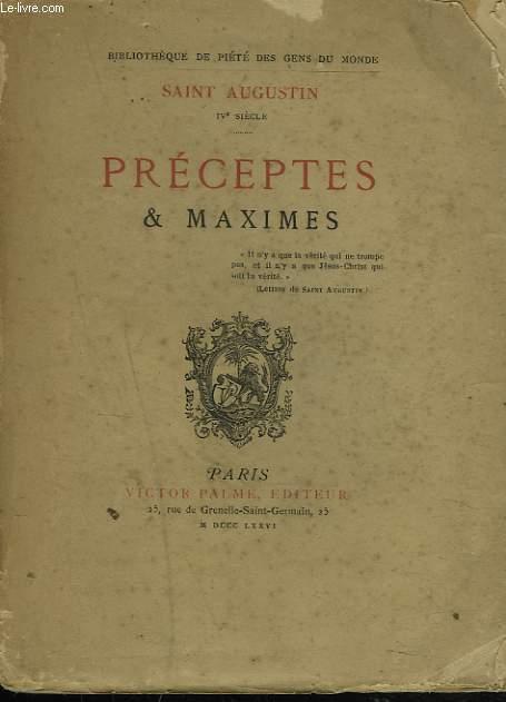 PRECEPTES ET MAXIMES