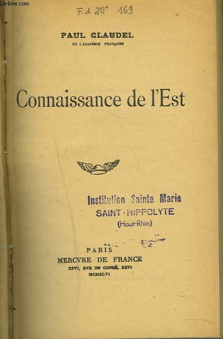 CONNAISSANCE DE L'EST