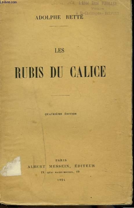 LES RUBIS DU CALICE