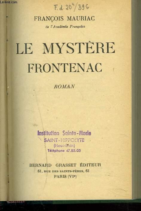 LE MYSTERE FRONTENAC