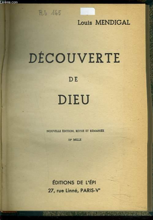 DECOUVERTE DE DIEU