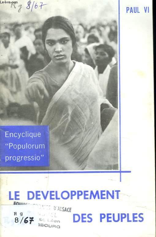 LE DEVELOPPEMENT DES PEUPLES. Encyclique