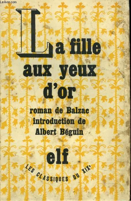 LA FILLE AUX YEUX D'OR.