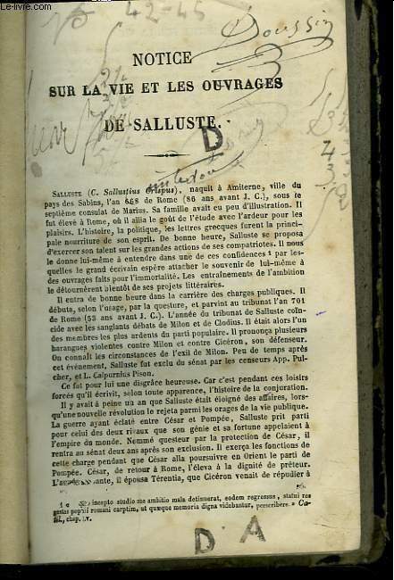 C. SALLUSTI CRISPI CATILINA.