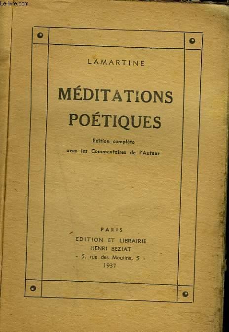 MEDITATIONS POETIQUES.