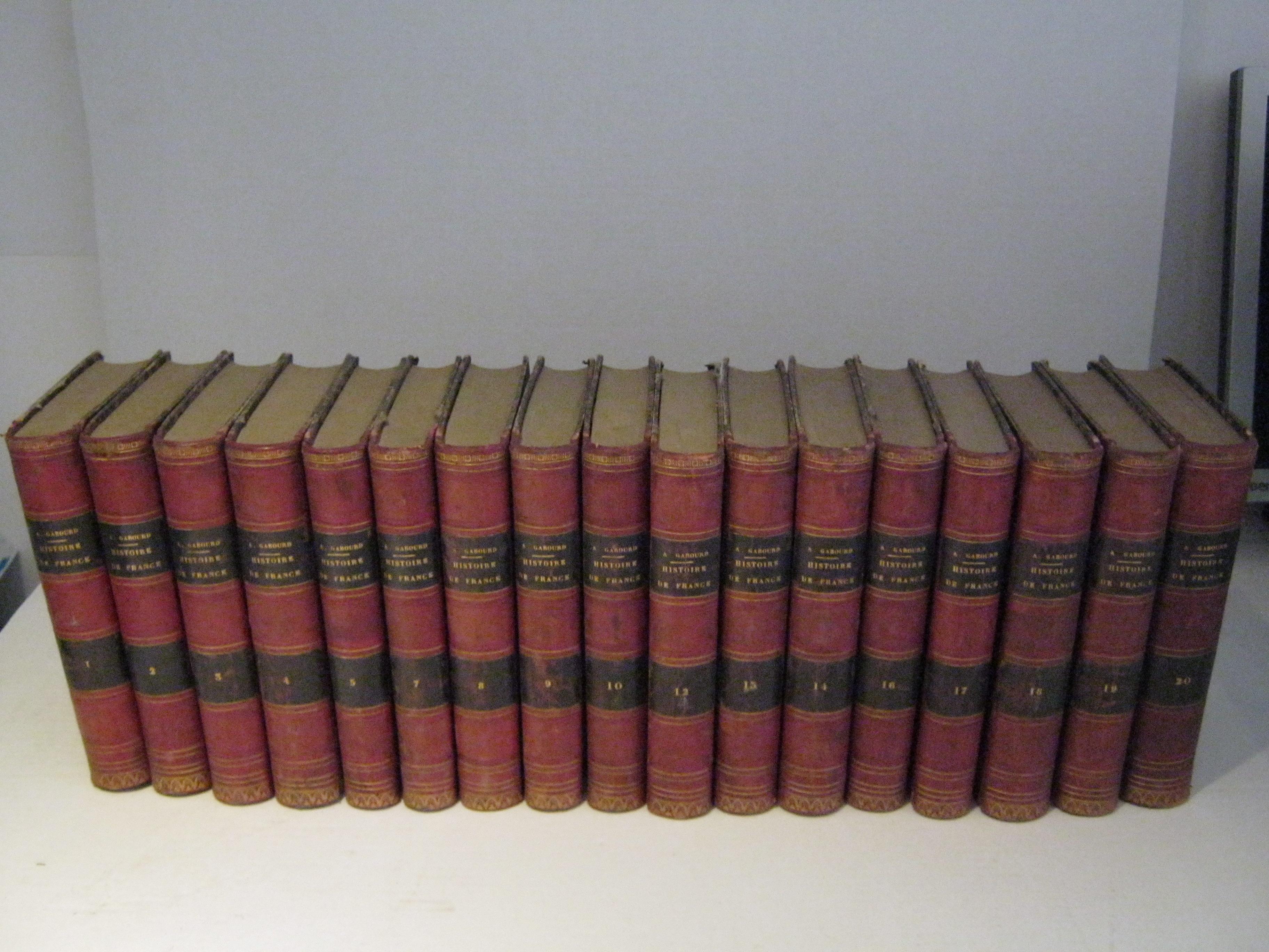 HISTOIRE DE FRANCE DEPUIS LES ORIGINES GAULOISES JUSQU'A NOS JOURS. 18 TOMES (INCOMPLET, MANQUE LES TOMES 11 ET 15).