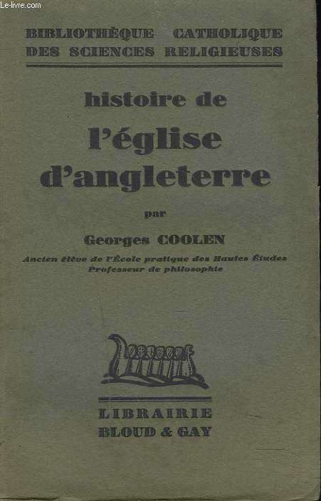HISTOIRE DE L'EGLISE D'ANGLETERRE.