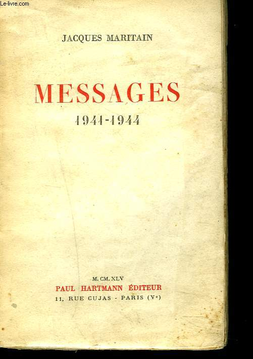MESSAGES 1941-1944.