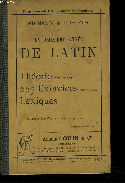 LA DEUXIEME ANNEE DE LATIN. 2e EDITION. CLASSE DE CINQUIEME.