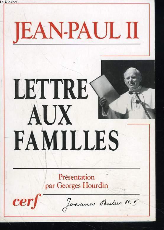 LETRE AUX FAMILLES
