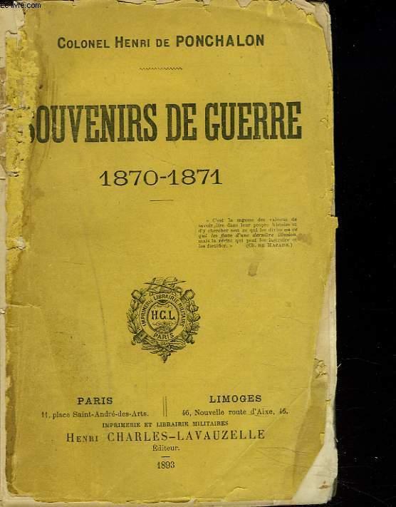 SOUVENIRS DE GUERRE 1870-1871.