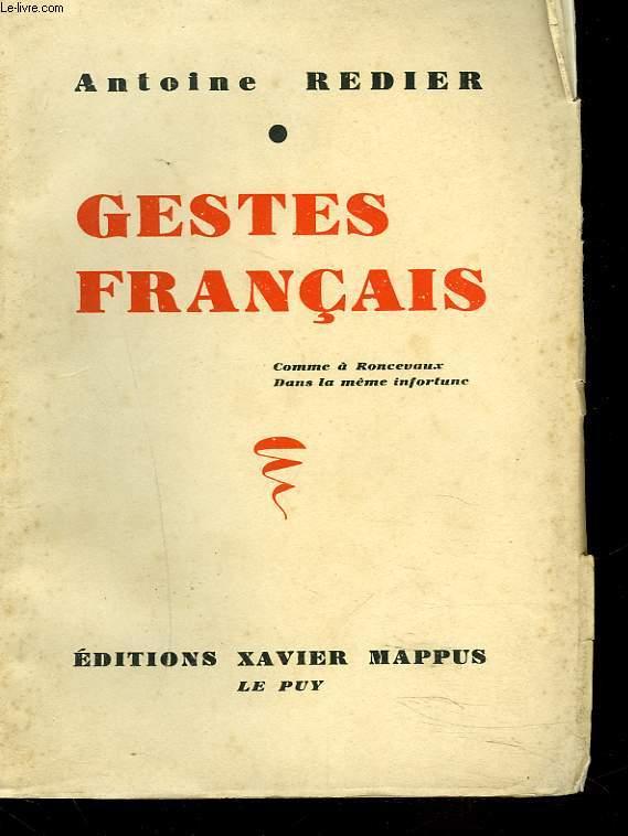 GESTES FRANCAIS