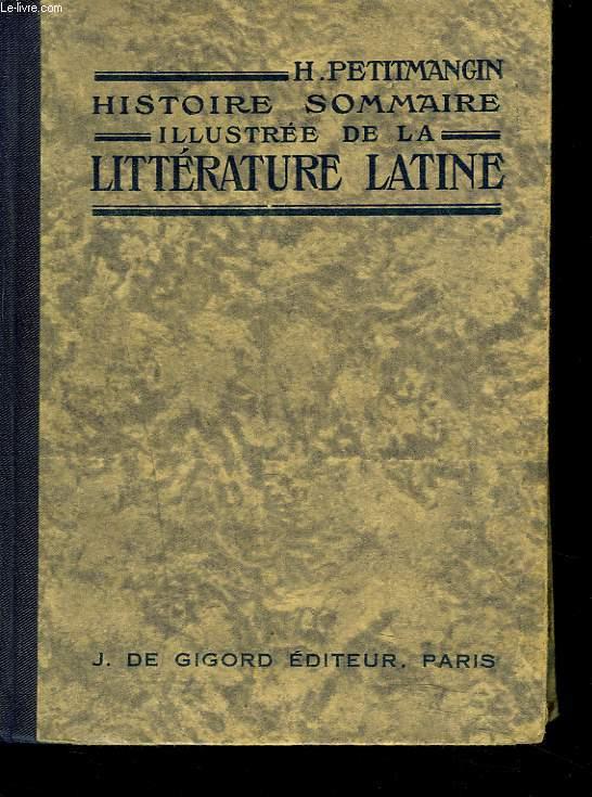 HISTOIRE SOMMAIRE ILLUSTREE DE LA LITTERATURE GRECQUE.