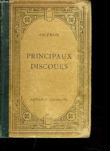 PRINCIPAUX DISCOURS. ANALYSE ET EXTRAITS PAR G. RAMAIN.