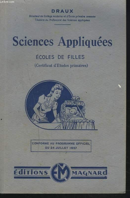 SCIENCES APPLIQUEES. ECOLES DE FILLES