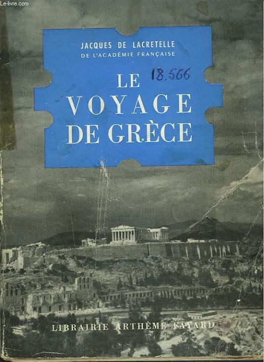 LE VOYAGE DE GRECE