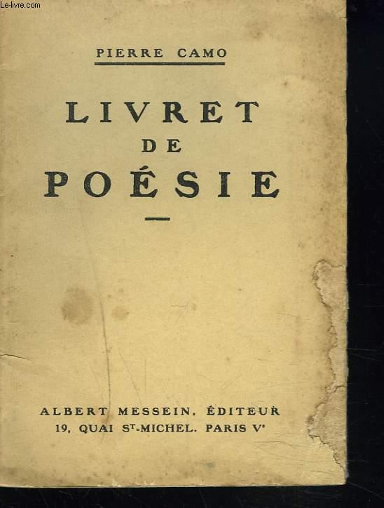 LIVRET DE POESIE