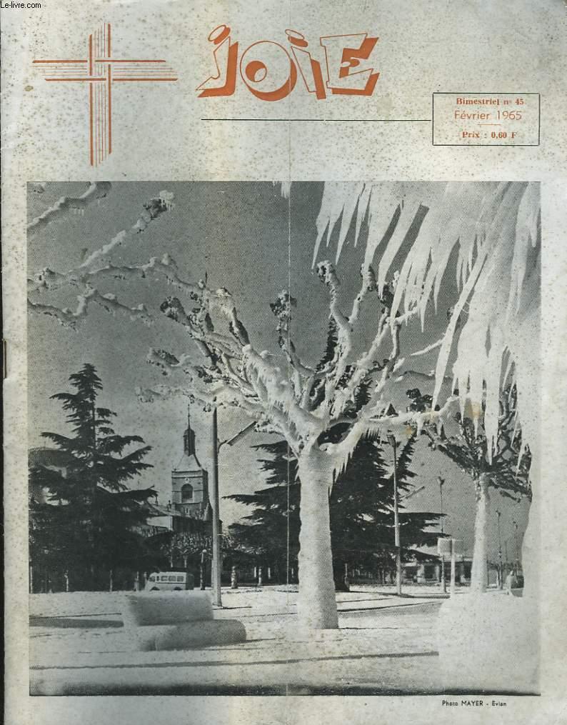JOIE, BIMESTRIEL N°45, FEVRIER 1965. PROTESTANT, NOS FRERES.../ OECUMENISME ET TERRE SAINTE / CHANSON EXPRESSION / ...