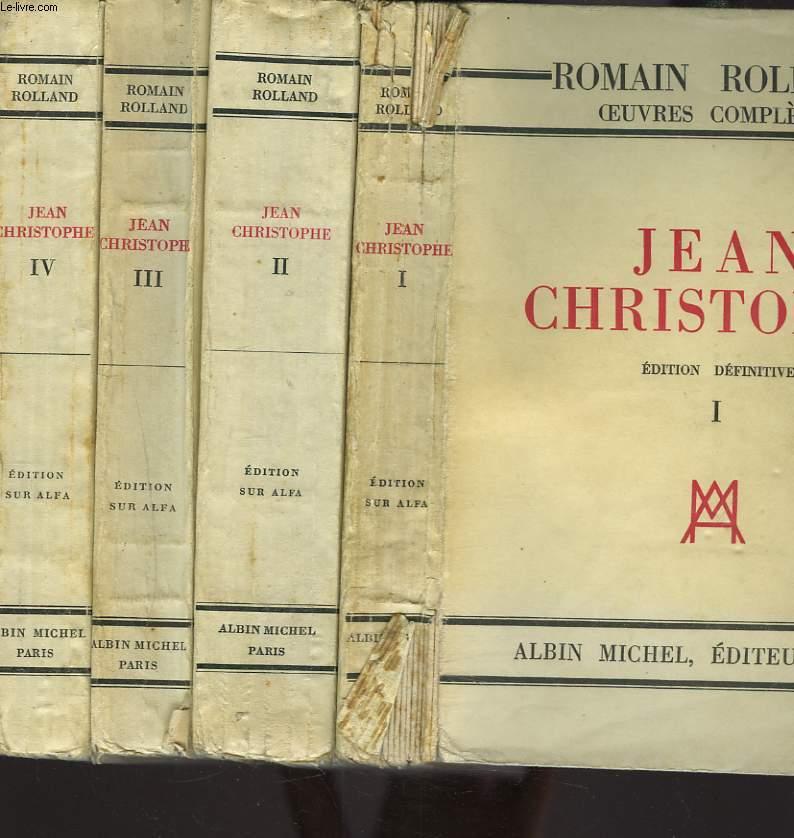 JEAN CHRISTOPHE. TOMES I à IV.