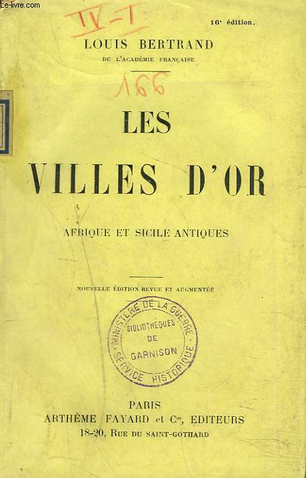 LES VILLES D'OR. AFRIQUE ET SICILE ANTIQUES.