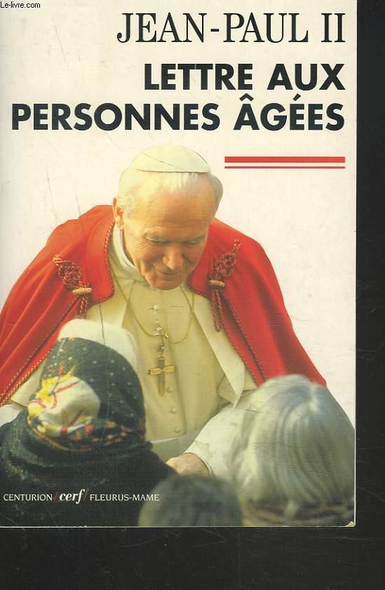 LETTRE AUX PERSONNES AGEES.