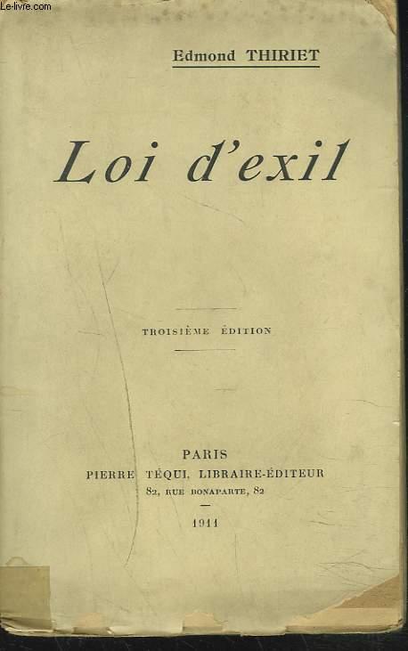 LOI D'EXIL
