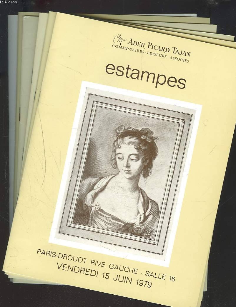 LOT DE 6 CATALOGUES D'ESTAMPES. VENTES ENTRE MARS 1979 ET OCTOBRE 1981.
