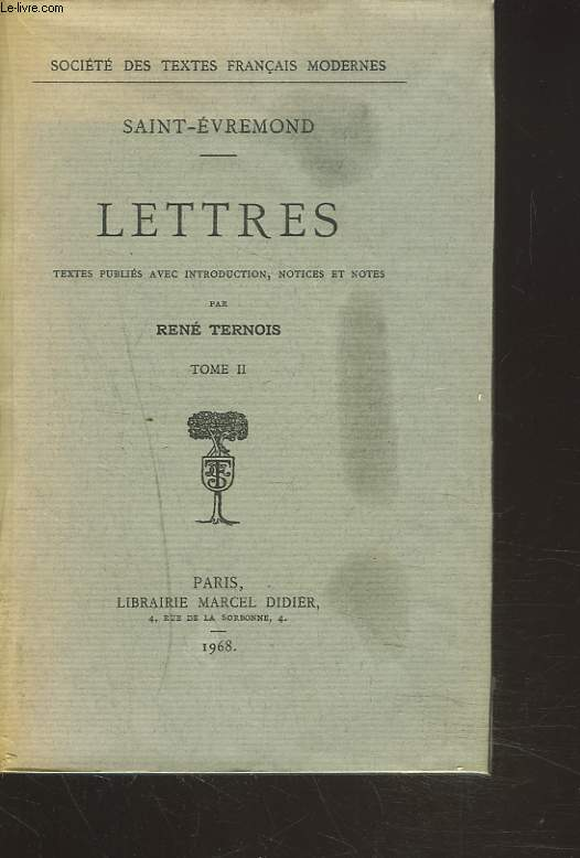 LETTRES. TOME II.