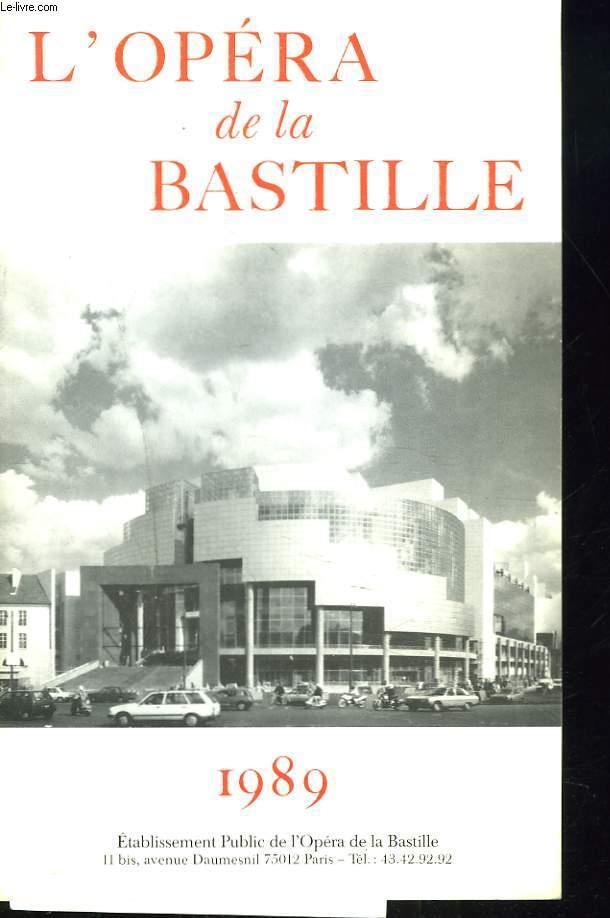 L'OPERA DE LA BASTILLE. 1989
