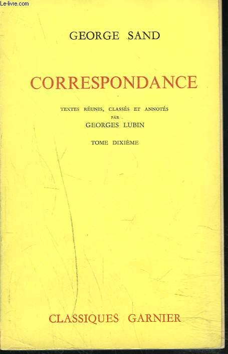 CORRESPONDANCE. TOME X. JANVIER 1851 - MARS 1852.