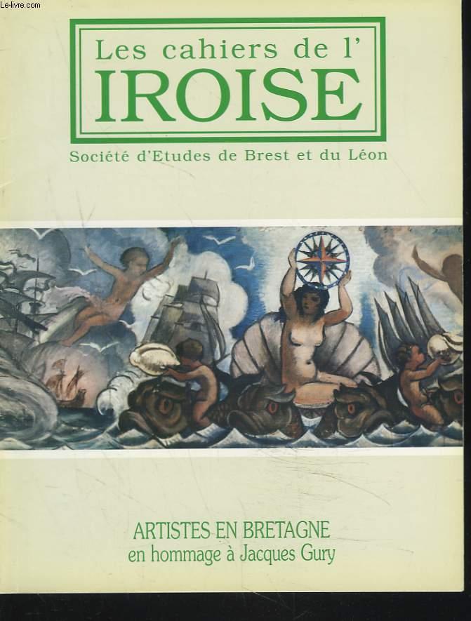 LES CAHIERS DE L'IROISE N°171, JUILLET 1996. ARTISTES EN BRETAGNE EN HOMMAGE A JACQUES GURY / C. RENAULT, LES DECORS PEINTS DE L'ECOLE D'HYDROGRAPHIE DE PAIMPOL : VERS UNE POPULARISATION DE L'ART / DES REGATES POUR REMEDIER A LA CRISE ECONOMIQUE / ...