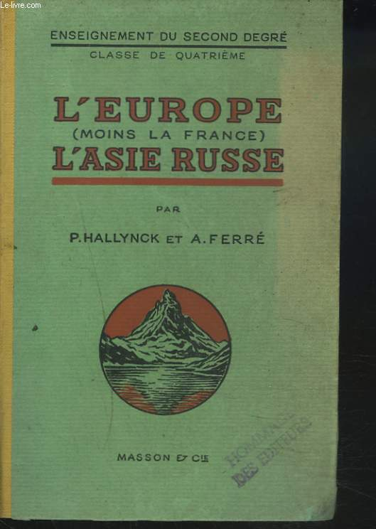 L'EUROPE (POINS LA FRANCE). L'ASIE RUSSE. CLASSE DE 4e.