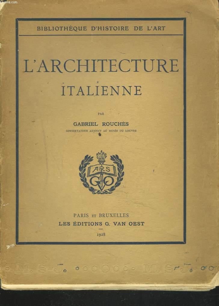 L'ARCHITECTURE ITALIENNE