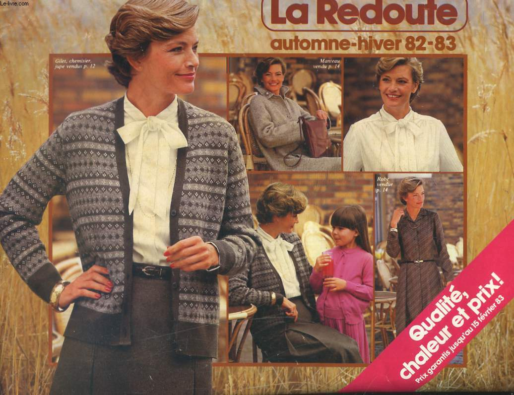 catalogue la redoute automne hiver 1982 1983 qualite chaleur et prix collectif. Black Bedroom Furniture Sets. Home Design Ideas