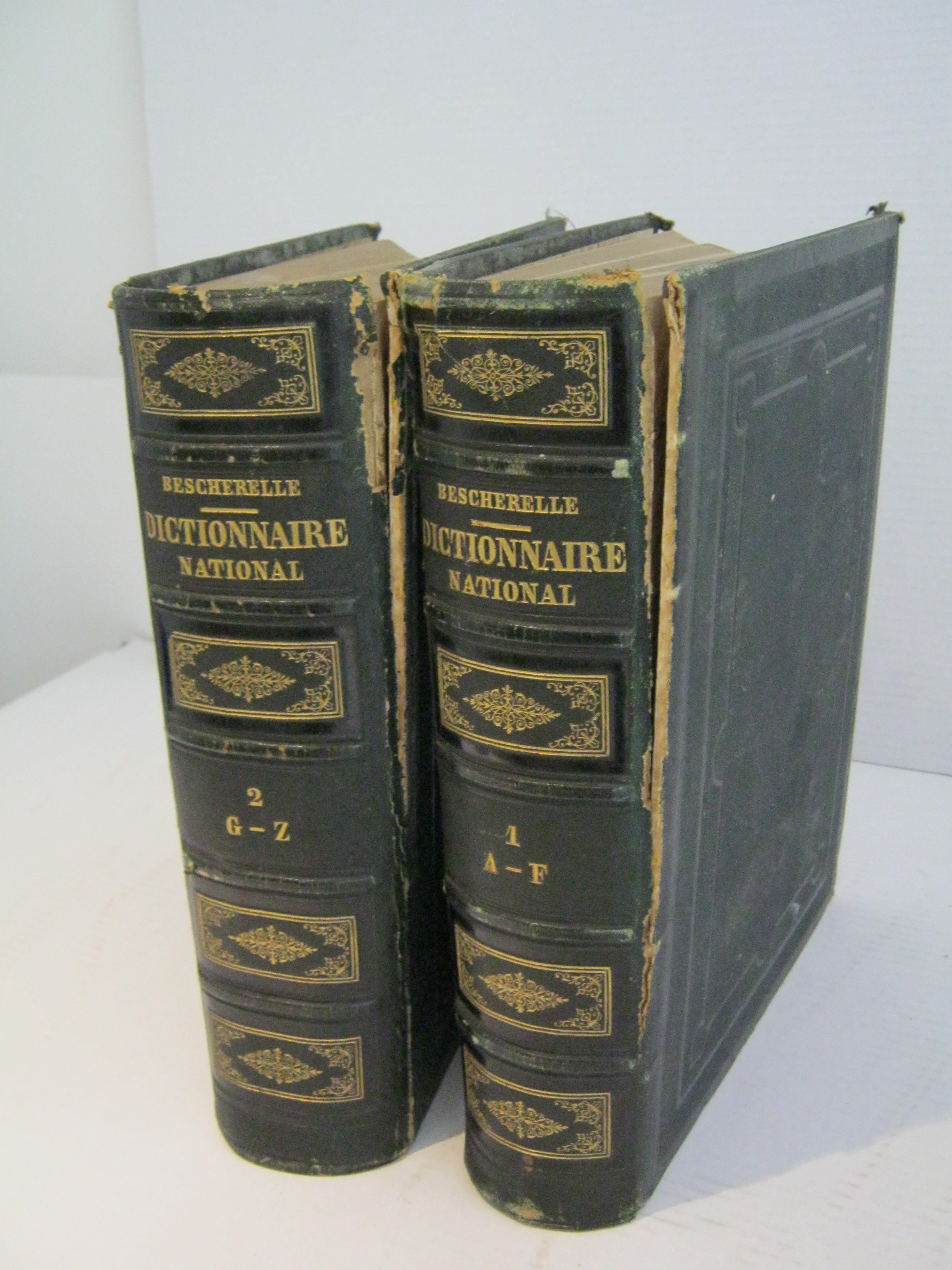 DICTIONNAIRE NATIONAL ou DICTIONNAIRE UNIVERSEL DE LA LANGUE FRANCAISE EN 2 VOLUMES.