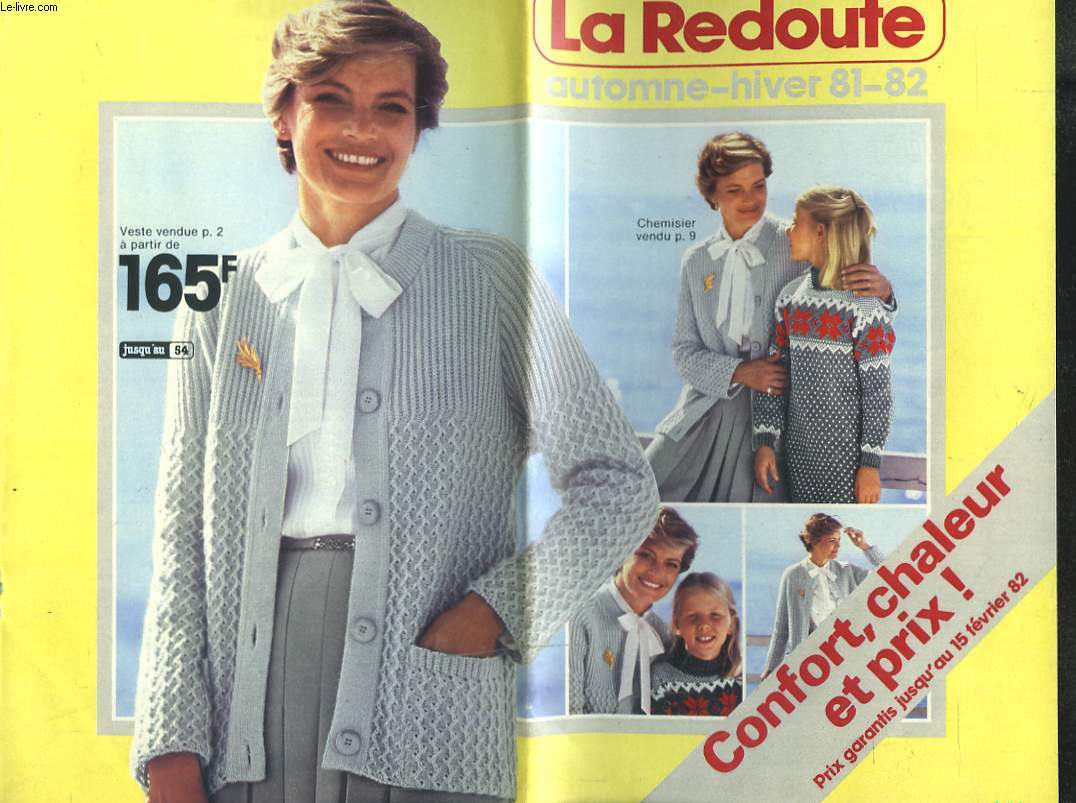 catalogue la redoute automne hiver 1981 1982 collectif. Black Bedroom Furniture Sets. Home Design Ideas