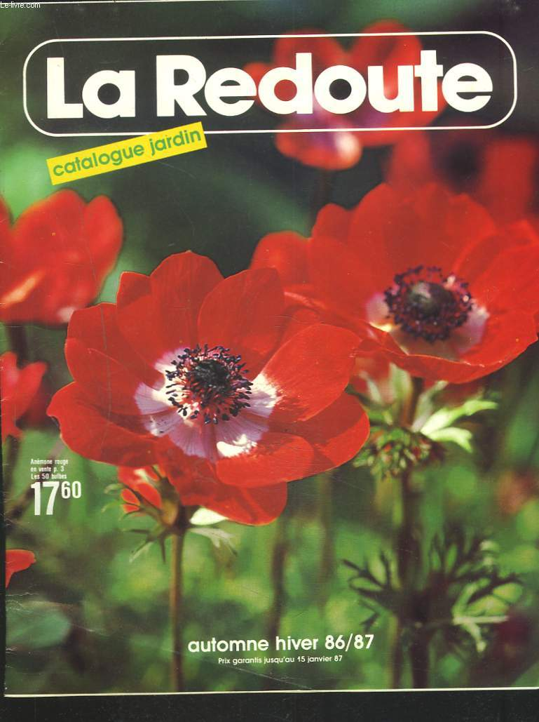 catalogue la redoute jardin automne hiver 1986 1987 collectif. Black Bedroom Furniture Sets. Home Design Ideas