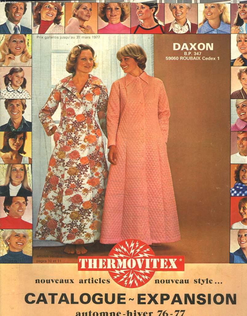 CATALOGUE DAXON THERMOVITEX / EXPANSION AUTOMNE HIVER 1976-1977.