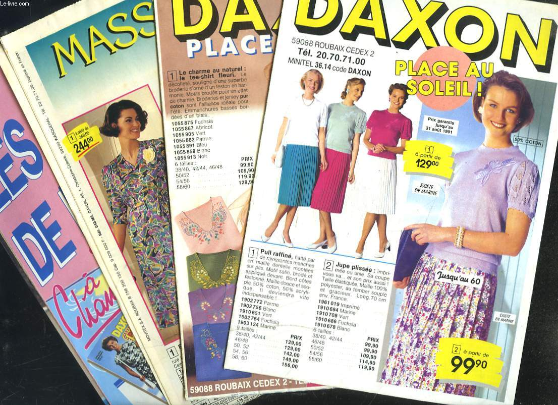 LOT DE 4 CATALOGUES DAXON PROMOTIONS DE L'ETE.