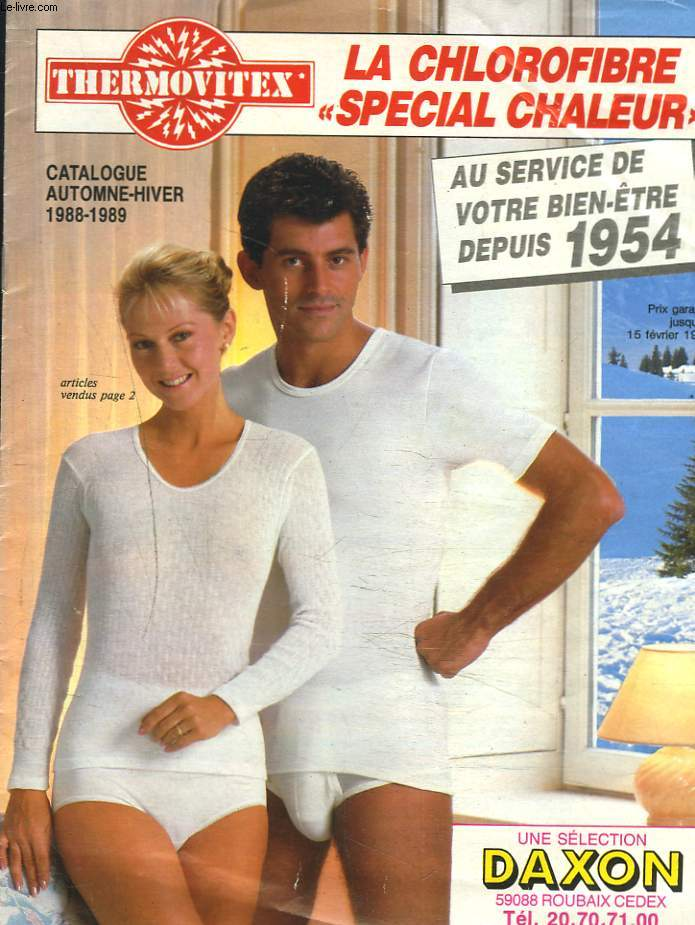 CATALOGUE DAXON COLLECTION HIVER 1988-1989. THERMOVITEX