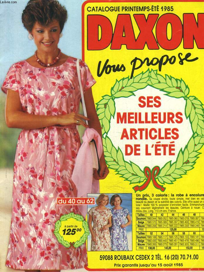 CATALOGUE DAXON PRINTEMPS-ETE 1985
