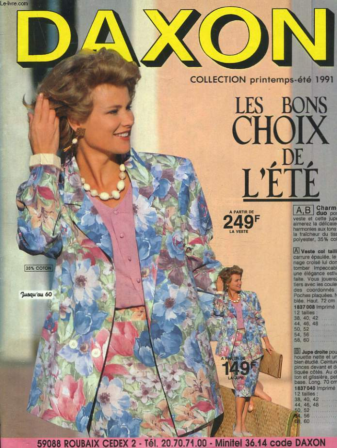 CATALOGUE DAXON PRINTEMPS-ETE 1991