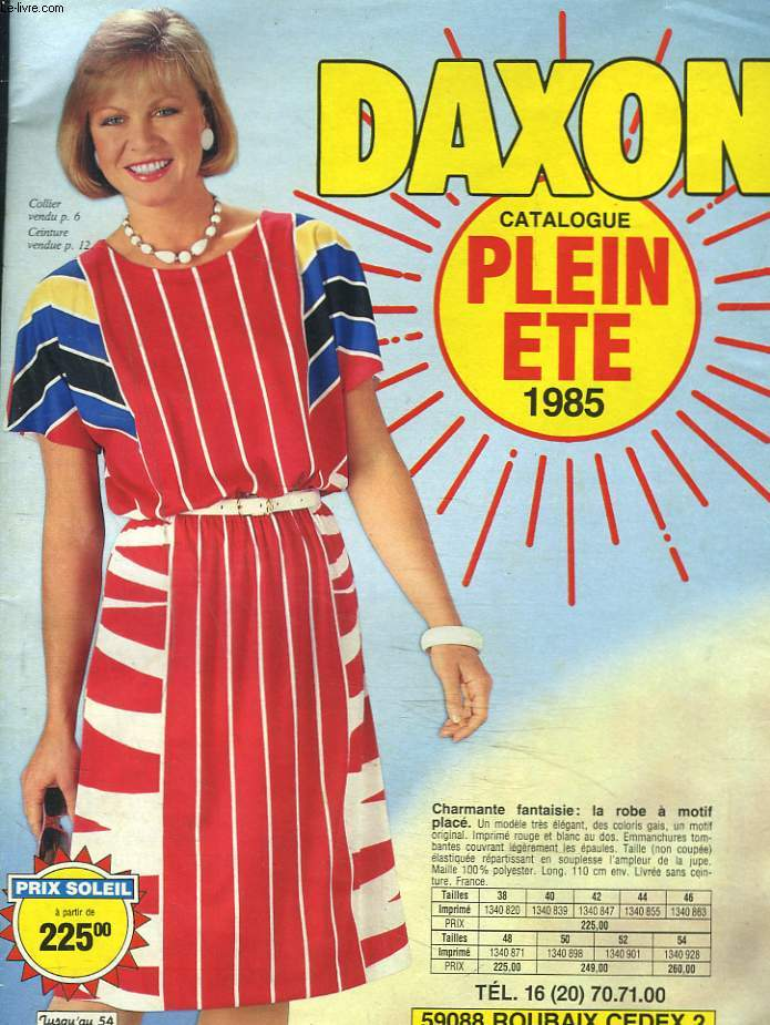 CATALOGUE DAXON PLEIN ETE 1985.