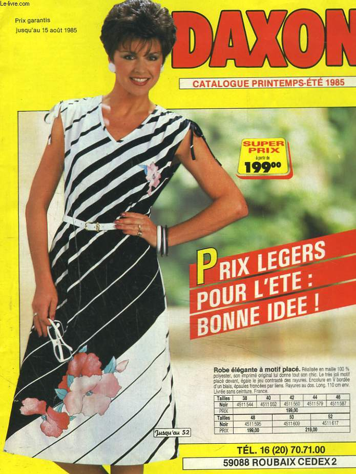 CATALOGUE DAXON PRINTEMPS-ETE 1985.
